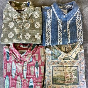Lot of 4 Reyn Spooner shirts size L